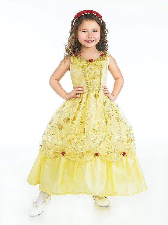 Amazon.com: Little Adventures Yellow Beauty Princess Dress Up ...