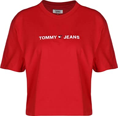 Tommy Hilfiger Tjw Linear Logo Detail tee Camiseta para Mujer: Amazon.es: Ropa y accesorios