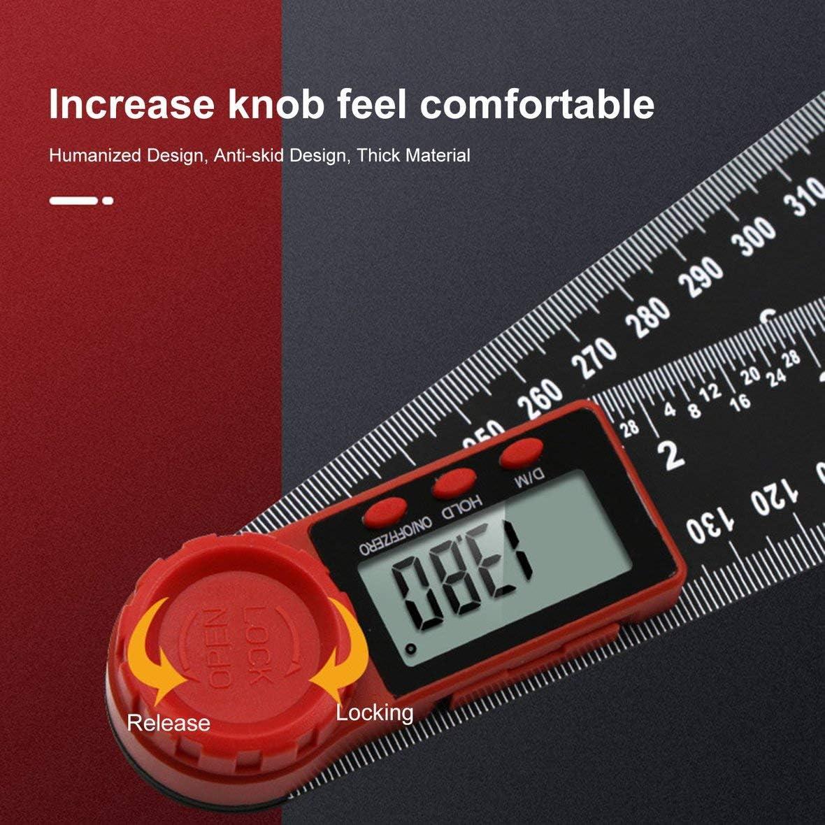 Messwerkzeug elektronisch Lineal Winkelmesser Schwarz 200 mm Digitaler Winkel Goniometer Neigungsmesser