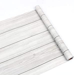 Wood Grain Contact Paper,yazi Peel and Stick Wallpaper Adhesive Removable Wallpaper and Shelf Drawer, Cabinet Liner Paper (17.7'' x 78.7'', Wood Grain).