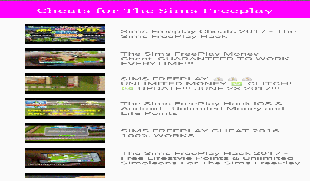 sims freeplay cheats for money