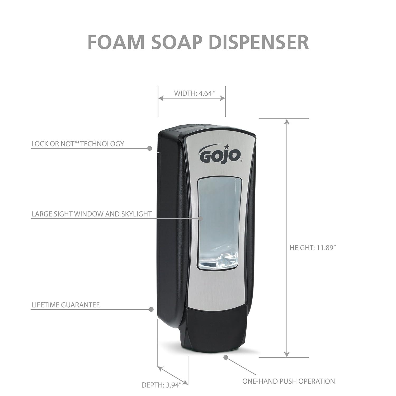 Dispensador GOJO® ADX-12TM, 1250 ml, 8888-06, Metálico/Negro: Amazon.es: Industria, empresas y ciencia