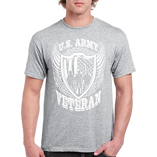 fb4d25b57a8 Image Unavailable. Image not available for. Color  Long Beach Apparel Us  Army Veteran Mens T-shirt ...