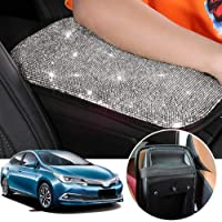 OMNFAS Bling Car Armrest Cover Cute Charming Auto Center Console Protective Cover Luster Crystal Rhinestone Car Arm Rest…
