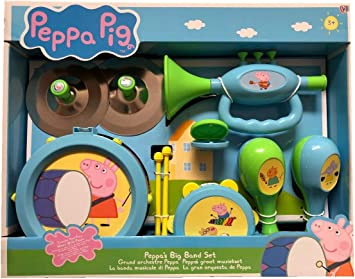 Peppa/'s Music Band Kids Play Set Toy Peppa Pig Musical Instrument Toys Playset
