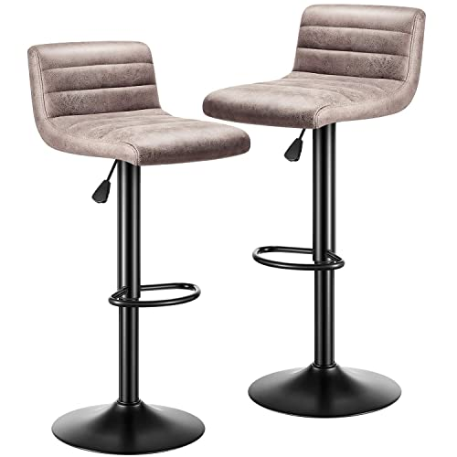 kealive Bar Stools Set of 2 Modern Adjustable Bar Stool