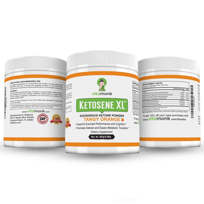 Ketosene XLTM 30 Servings Extra Large Exogenous Ketones Powder - Kickstart Ketosis Within 1-Hour with a Pure Blend of Calcium and Magnesium Ketone BHB Salts (KetoVantage® BHB) - Perfect Keto Diet Bulk by VitaMonk (Image #9)