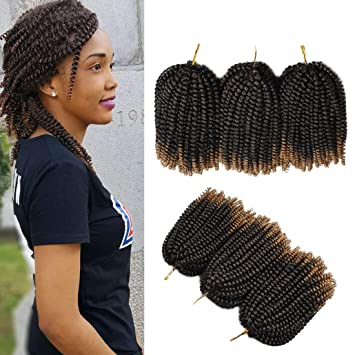 Amazoncom Spring Twist Ombre Crochet Braids Bomb Twist Synthetic