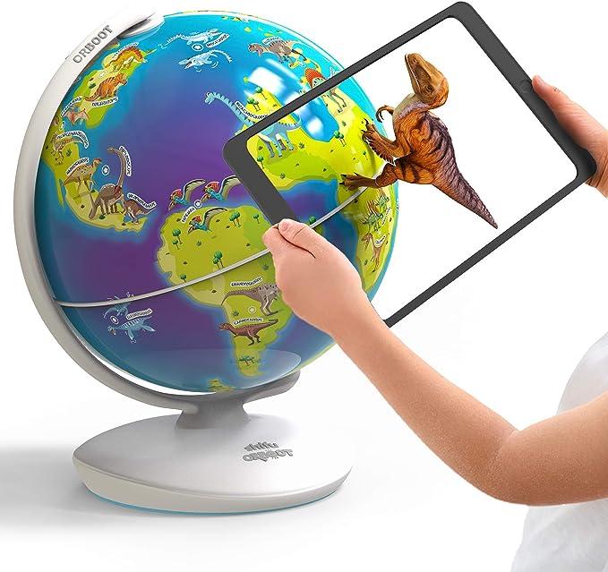 Amazon.com: Orboot Dinos AR Globe de PlayShifu (basado en aplicaciones) - World of Dinosaur Toys, Juguete educativo para niños. Regalo para niños y niñas a partir de 4 años.: Toys & Games