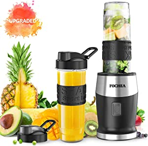 Smoothie Blender, Personal Blender Single Serve Small Blender for Juice shakes and Smoothies,with 2 * 20 OZ BPA-Free Portable Blender Bottles, 500W