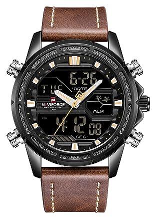 Amazon.com: NAVIFORCE - Reloj de pulsera para hombre, correa ...