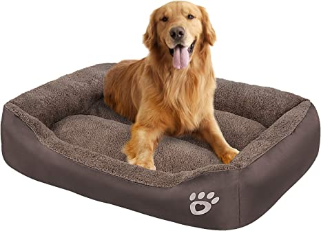 Amazon Com Oqq Large Dog Beds Pet Bed For Medium Big Extra Large Dogs Dog Sofa Bed Washable Soft Fiber Stuffing Calming Dog Bolster Couch Pet Supplies