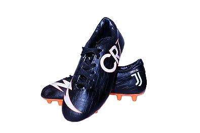 876eb4eab25 Sisdeal CR7 Juventus Black Orange Football Studs Shoes Size 1-10