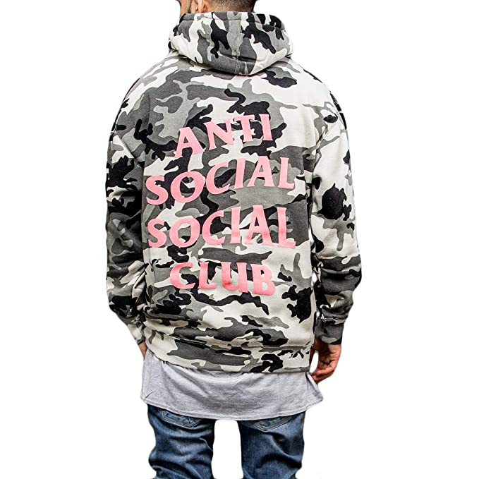 a23be117cab0 Kardiance Snow Camo Anti Social Social Club ASSC Hoodie Hoody   Amazon.co.uk  Clothing