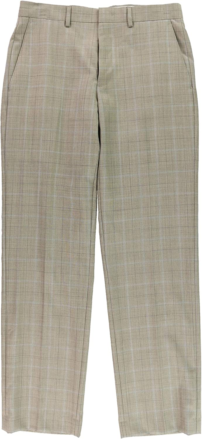 Ryan Seacrest Distinction Mens Herringbone Dress Pant Slacks