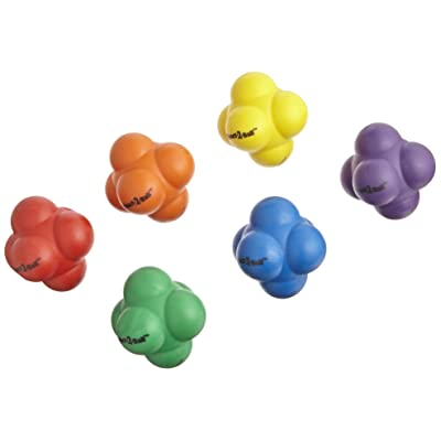 Sportime Rubber React-2-Ball with Erratic Bounce - Set of 6 - Multiple Colors: Industrial & Scientific