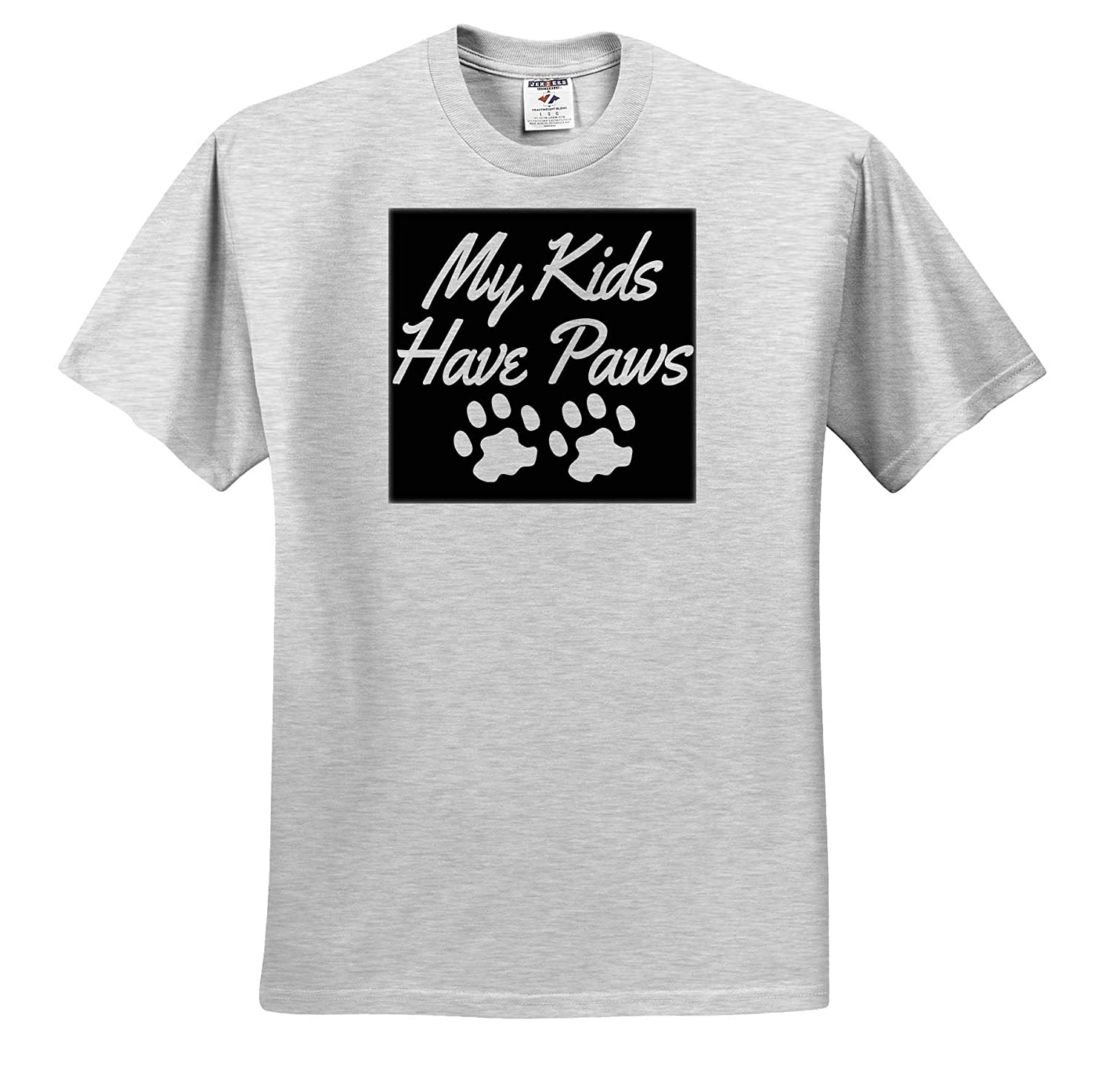 Quotes and Sayings Adult T-Shirt XL ts/_319229 3dRose Anne Marie Baugh My Kids Have Paws
