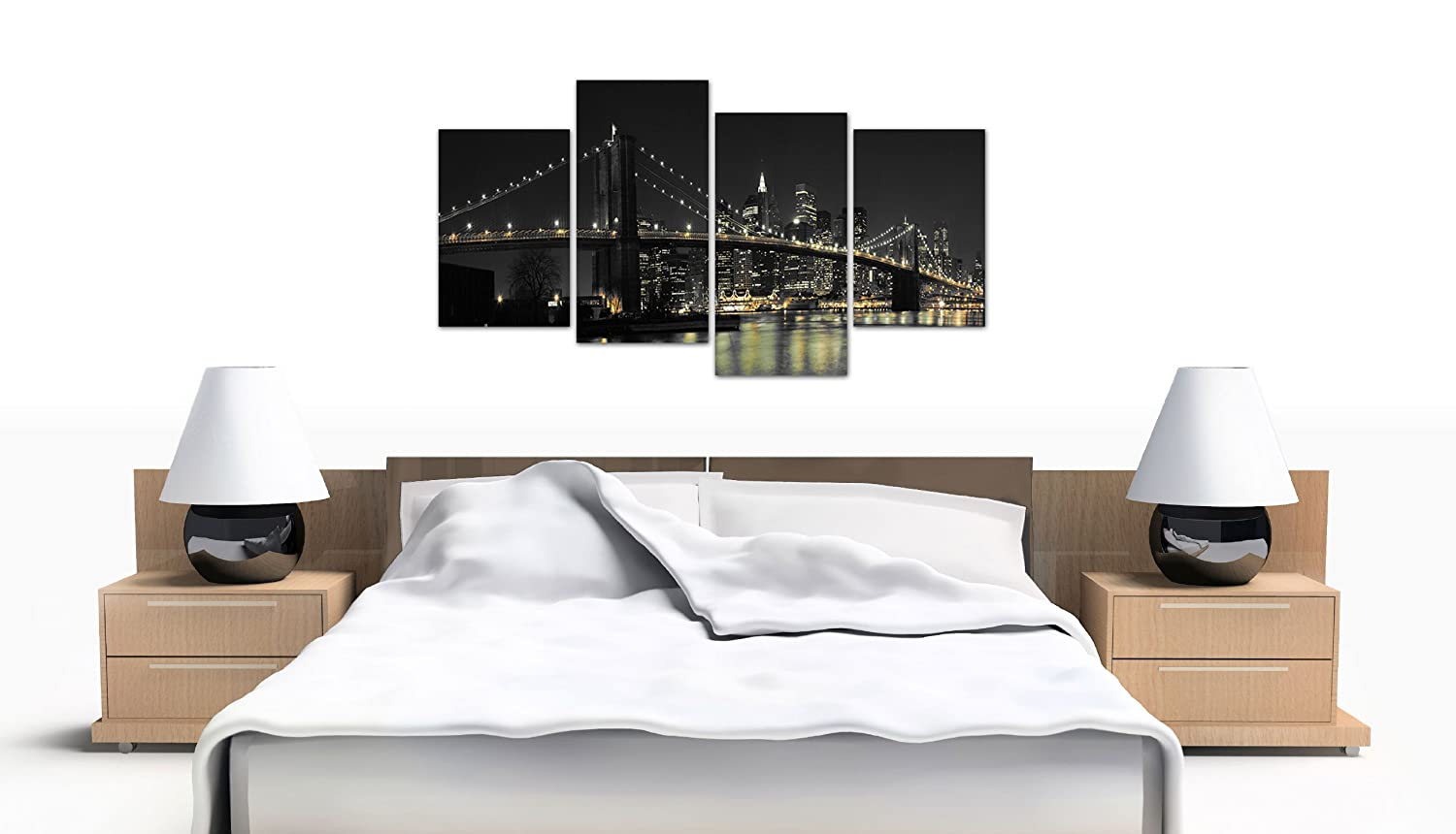 Amazon.com: Large New York City Canvas Wall Art Pictures of NYC ...