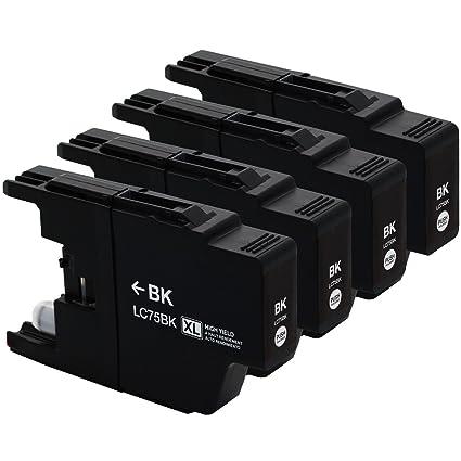 4 unidades Brother LC-75 X L negro cartuchos de tinta para ...