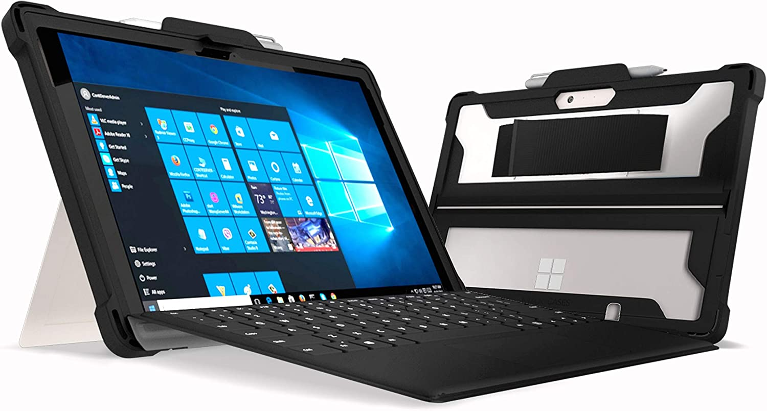 MAXCases Extreme Shell for Microsoft Surface Go - Rugged, Dual Layer Protective case with TPE Exterior | Stylus Holder | Military Drop-Tested - Hand Strap Not Included