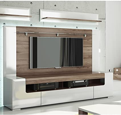 Amazon.com: Toronto TV Cabinet with Wall Panel - Large – Living Room ...