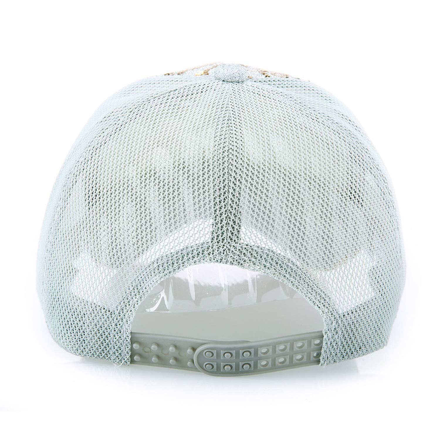 Ladys Baseball Cap with Shiny Sequin Trucker mesh Hat for Women Hiphop Irregular Stripes Lace Glitter Hats