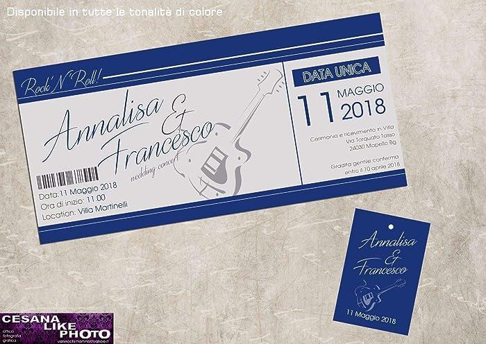 Partecipazioni Matrimonio Azzurro : Partecipazioni matrimonio personalizzate inviti nozze biglietto