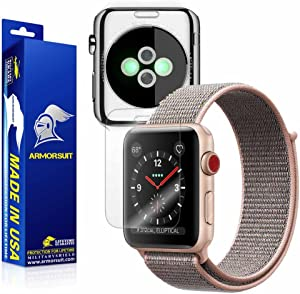 ArmorSuit MilitaryShield Clear Full Body Skin + Max Coverage Screen Protector for Apple Watch 38mm (Series 3) - HD Clear