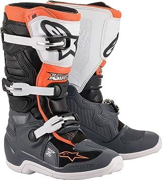 TECH 7S Off Road Motocross Boot BLACKGRAYWHITEORANGE FLUO (2)