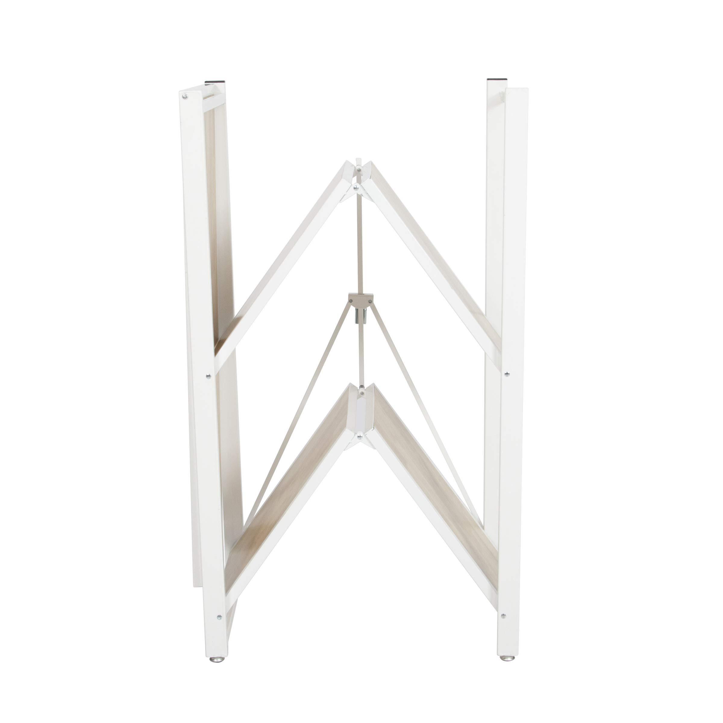 Origami Folding 4-Tier Heavy Duty Steel Baker's Rack with Wood Shelf, White by Origami (Image #8)