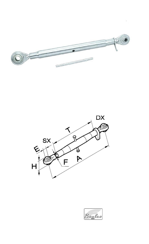 Terzo Punto Completo Foro ø 19 per Trattore 50019 ( L= 540/740) min/max Cermag