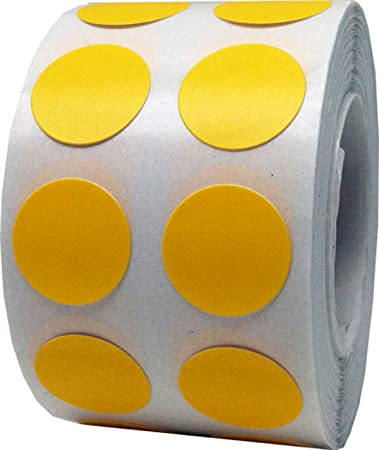 Color coding labels yellow round circle dots for organizing inventory 1 2 inch 1000 total