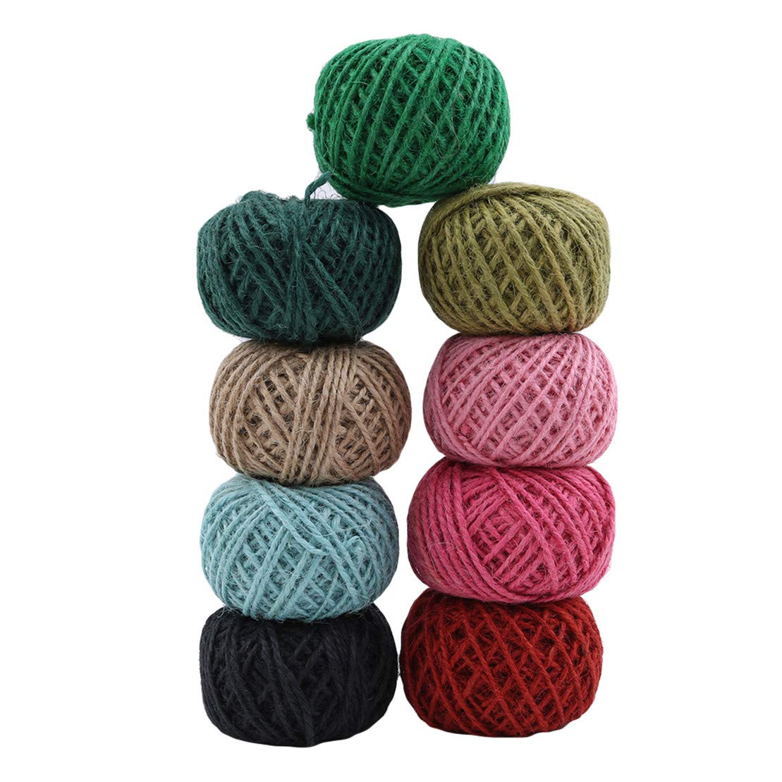 DIY Crafts Kissherely 30 Meters Jute Twine Cord Hemp Rope Natural Burlap Hessian Rope for Gift Wrapping Decorations Black