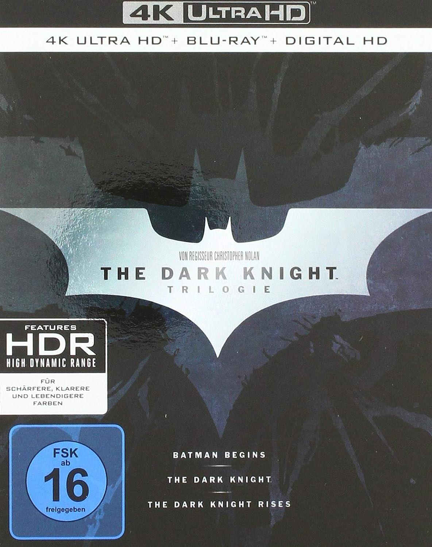 The Dark Knight Trilogy 4K Ultra HD Alemania Blu-ray: Amazon.es: Bale, Christian, Caine, Michael, Oldman, Gary, Freeman, Morgan, Nolan, Christopher, Bale, Christian, Caine, Michael: Cine y Series TV