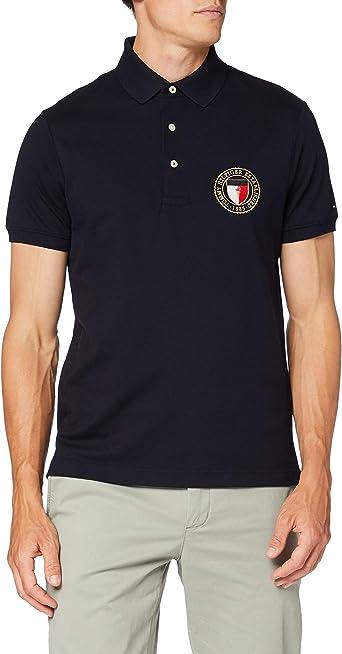 Tommy Hilfiger Crest Chest Slim Polo Camisa para Hombre: Amazon.es: Ropa y accesorios