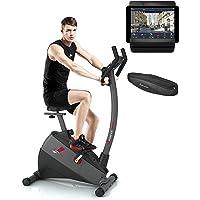 Sportstech ESX500 Bicicleta estática GANADORA del Test* con App para Smartphone, Sistema inercial 12kg,Compatible con Pulsera para Control Cardio,Bicicleta estática