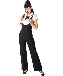 SugarShock Damen Hosenträger Marlene Retro Rockabilly High