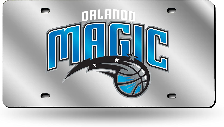 NBA Rico Industries Laser Inlaid Metal License Plate Tag, Orlando Magic