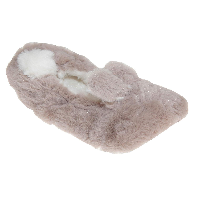 Damen Weiches Warm Gefüttert Pantoffeln mit Gepunktet Seitenschleife