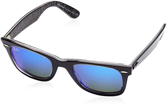 blue ray ban wayfarer sunglasses  ray ban wayfarer top blue grad on light b frame mirror blue lenses 50mm