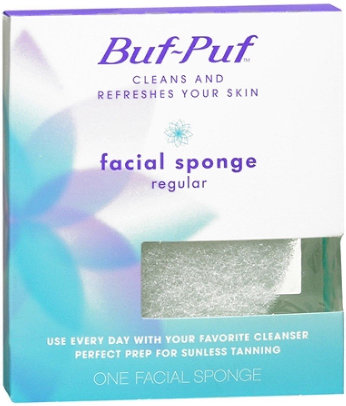 Buf-Puf Regular Facial Sponge 1 Each (Pack of 10)