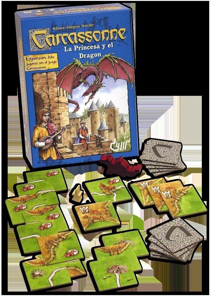 Devir - Expansión Carcassonne: La Princesa y El Dragón (49642 ...