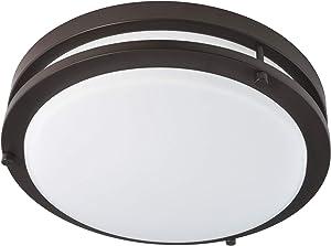 Good Earth Lighting Jordan 11-inch LED Flush Mount Light - Bronze