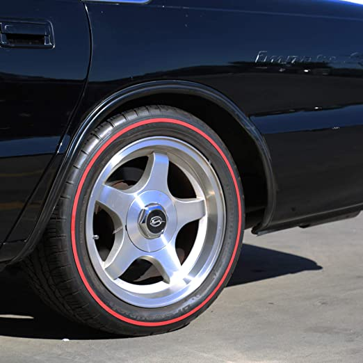 Redline Tire Rubber Stripe - (ALL 4 Tires) D.I.Y. Red Line Kit - CUSTOM SIZING: Amazon.es: Coche y moto