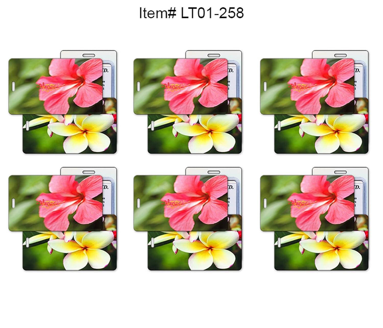 251ef3eb318c Amazon.com | SET OF 6 - Lenticular Luggage Tag Plastic Loop, Flips ...