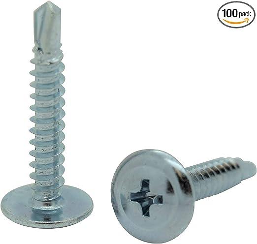 Amazon.com: Snug Fastener 100 Tornillos de chapa de metal ...