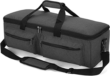 Black Air 2 Yarwo Carrying Case for Cricut Maker Die-Cut Machine Travel Tote Bag with Pockets for Craft Tools and Supplies Silhouette Cameo 3 and Cameo 4 Cricut Explore Air