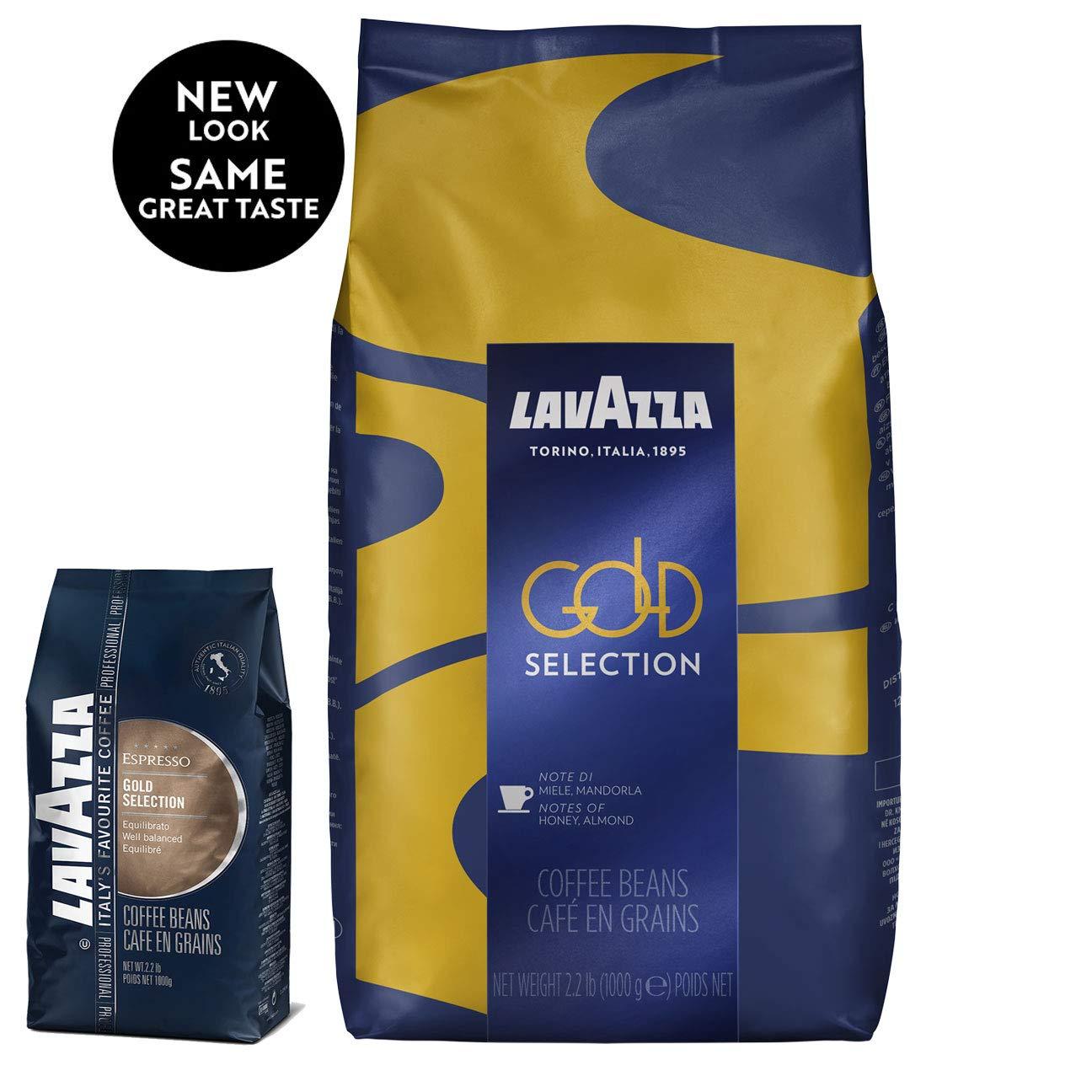 Lavazza Gold Selection Whole Bean Coffee Blend, Medium Espresso Roast, 2.2-Pound Bag by Lavazza