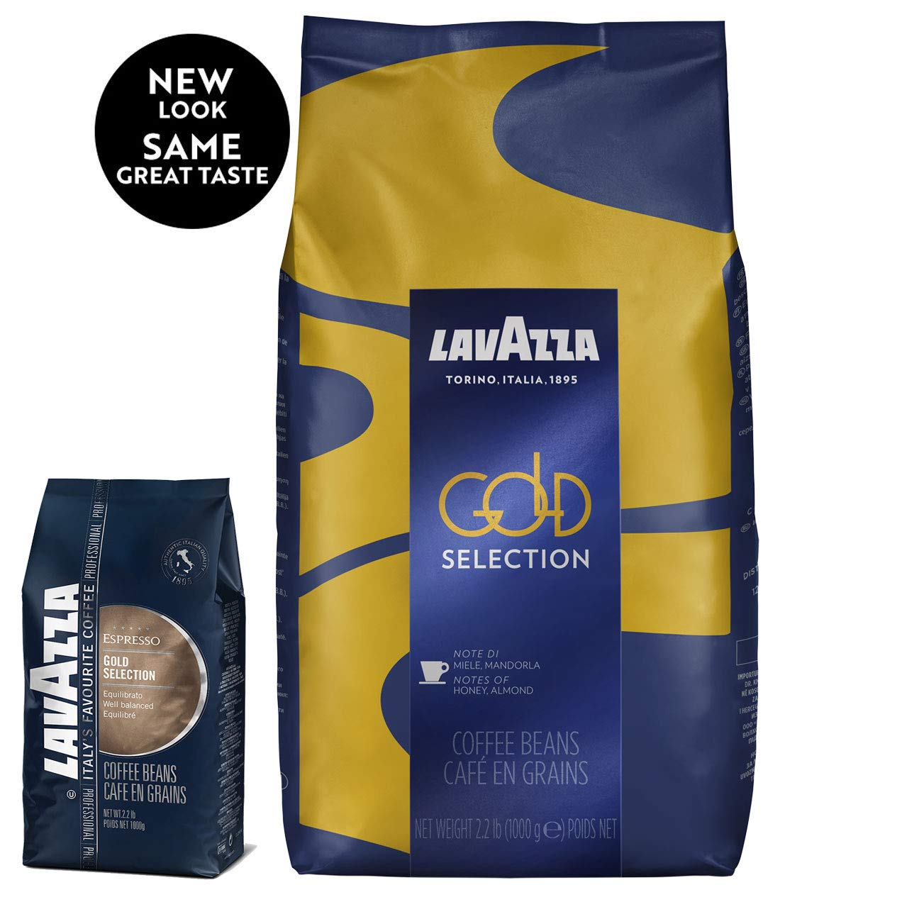 Lavazza Gold Selection Whole Bean Coffee Blend, Medium Espresso Roast, 2.2-Pound Bag