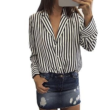 Mujer blusa fiesta,Sonnena ❤ Cárdigan de manga larga con cuello en V para